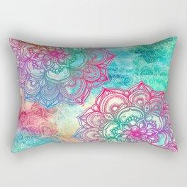Round & Round the Rainbow Rectangular Pillow