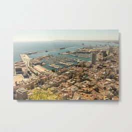 Alicante from the top of the hill Metal Print