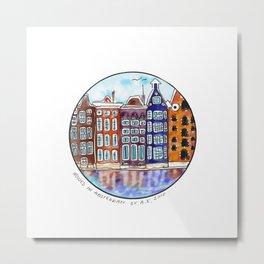 Houses in Amsterdam Metal Print