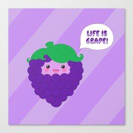 Life is Grape! (striped) Canvas Print