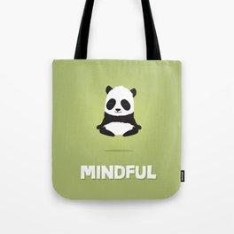 Mindful panda levitating Tote Bag