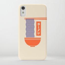 Ramen Japanese Food Noodle Bowl Chopsticks - Cream iPhone Case