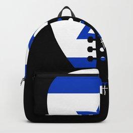 Israel Flag Guitar Plectrum Backpack