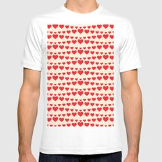C13D HEARTWAVE White MEDIUM Mens Fitted Tee