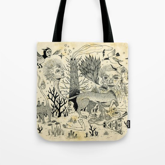 Grotesque Flora and Fauna Tote Bag