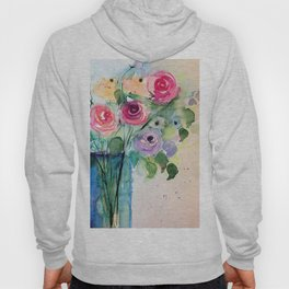 Colourful Bouquet Of Roses Hoody