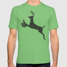 Encouraging Deer Grass Mens Fitted Tee MEDIUM