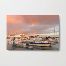 Marina in the Azores Metal Print