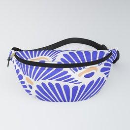 Blue Shell Pattern Fanny Pack