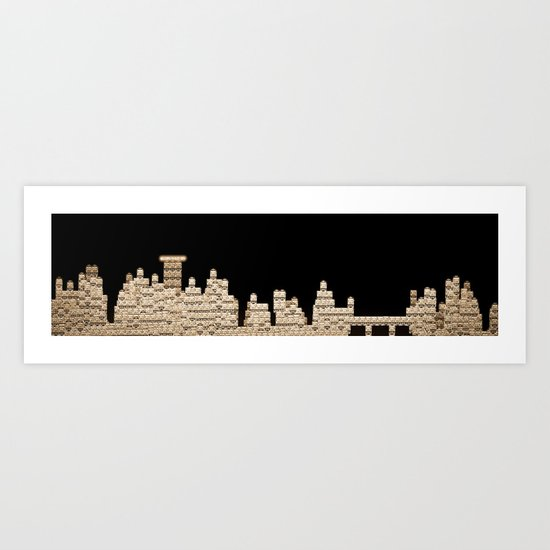 Slot city skyline Art Print