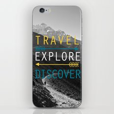 Travel Explore Discover iPhone & iPod Skin