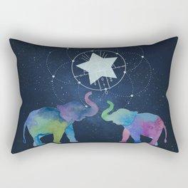 Elephants in starlight - Technicolour safari Rectangular Pillow