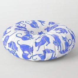 Cat Positions – Blue Palette Floor Pillow