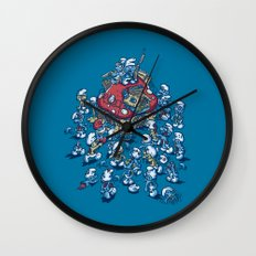 Blue Horde Wall Clock