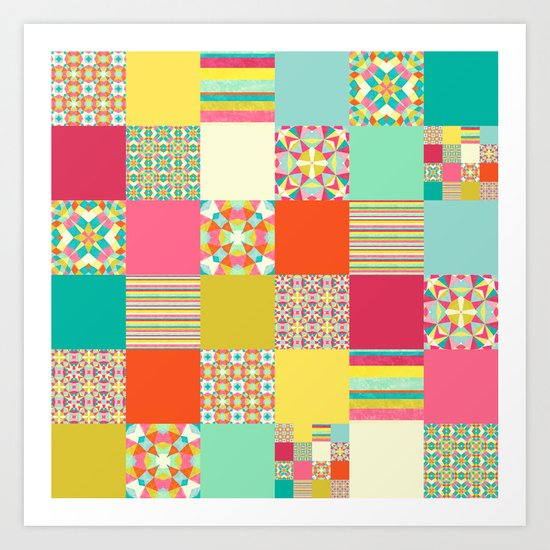 Patchwork Cheater Art Print