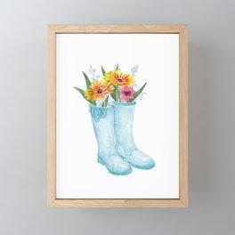 Garden Boots Framed Mini Art Print