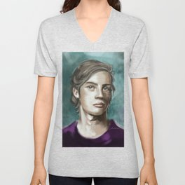Man in purple Unisex V-Neck