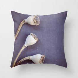 Poppy Seed Heads Throw Pillow