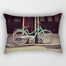 Turquoise Bike Rectangular Pillow