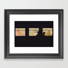Travelling without moving Framed Art Print