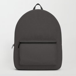 Solid Gray Wolf html Color Code #504A4B Backpack