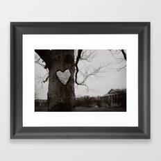 love on the quad Framed Art Print