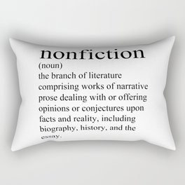 Nonfiction Definition Rectangular Pillow