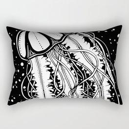 Midnight Jellyfish Rectangular Pillow