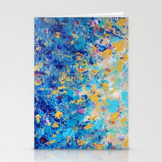 HYPNOTIC BLUE SUNSET - Simply Beautiful Royal Blue Navy Turquoise Aqua Sunrise Abstract Nature Decor Stationery Cards