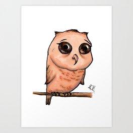 Cute Critters - Baby Owl Art Print