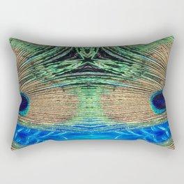 Peacock Star Rectangular Pillow