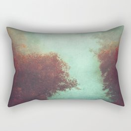 Copper Trees and River in Mist Rectangular Pillow