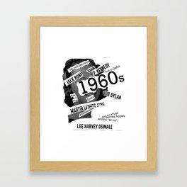 Misanthrope 60's Shirt Framed Art Print