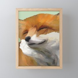 Smiling Fox Framed Mini Art Print