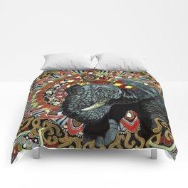 Elephant Red and Gold Indian Yoga Mandala Comforters