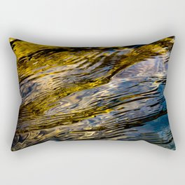 River Ripples in Copper Gold and Brown Rectangular Pillow