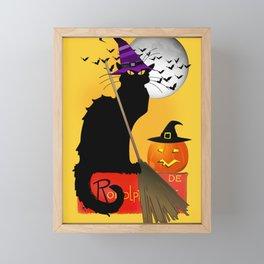 Le Chat Noir - Halloween Witch Framed Mini Art Print