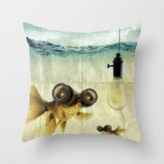 Fish Eyed Lens 03 Throw Pillow