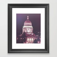 Idaho Capital Building at Night Framed Art Print