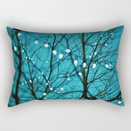 twinkly lights in a tree. Wonder Rectangular Pillow
