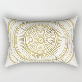 Quaking Aspen – Gold Tree Rings Rectangular Pillow