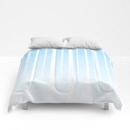 Dissolving Stripes Pattern in Soft Light Blue Comforters