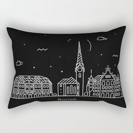 Zurich Minimal Nightscape / Skyline Drawing Rectangular Pillow