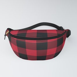 Buffalo Check Red Black Plaid Fanny Pack