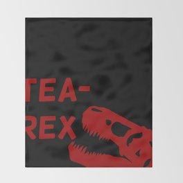 Tea-Rex Throw Blanket