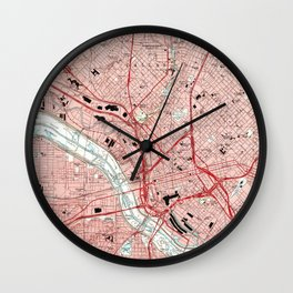 Dallas Texas Map (1995) Wall Clock