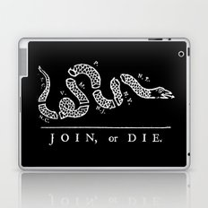 Join or Die in Black and White Laptop & iPad Skin