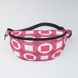 Strawberry Contemporary Bead Pattern Fanny Pack