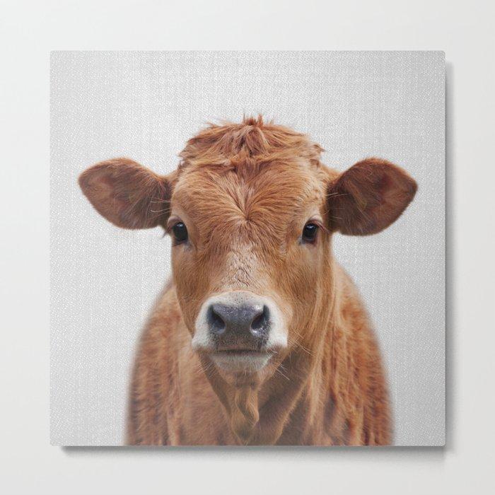 Cow 2 - Colorful Metal Print