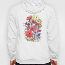 Big Poppy Field Hoody